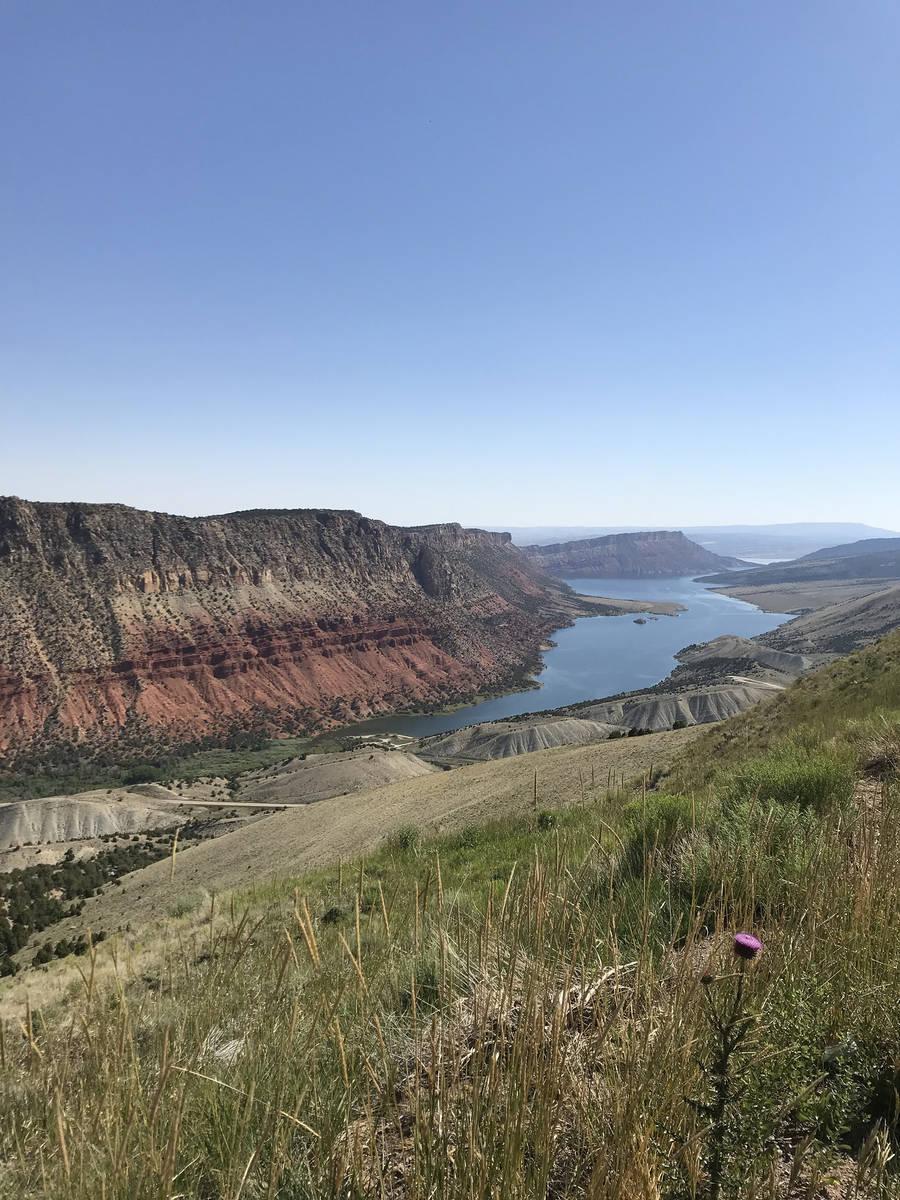Sheep Creek Bay at Flaming Gorge Reservoir. (Deborah Wall/Las Vegas Review-Journal)