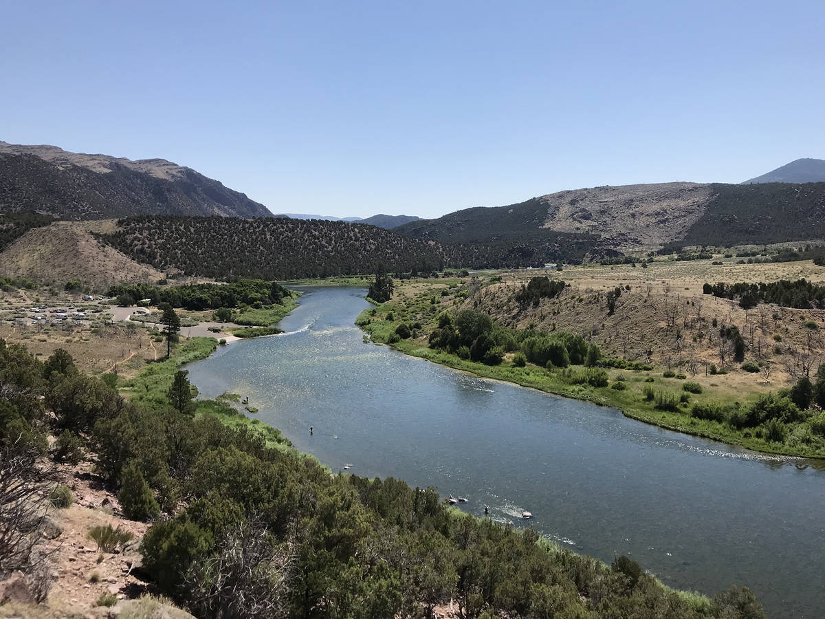 The segment of the Green River below the Flaming Gorge Dam is a fly-fisherman's paradise. (De ...
