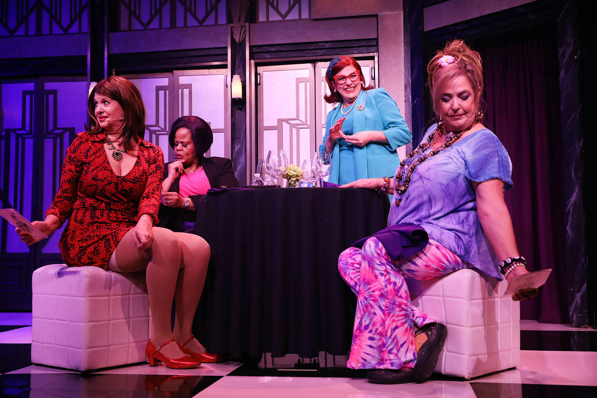 Jacquelyn Holland-Wright performs as Soap Star, from left, Lisa Mack as Professional Woman, Che ...