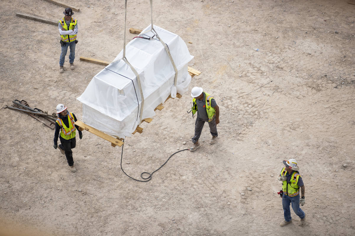 The Kirk Kerkorian School of Medicine at UNLV construction site in Las Vegas, Wednesday, July 2 ...