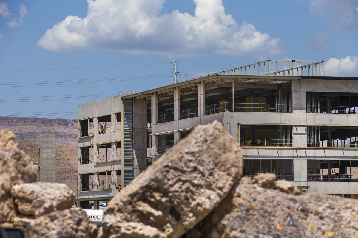 Construction continues on Office Building #1 at UnCommons, a mixed-use complex being built near ...