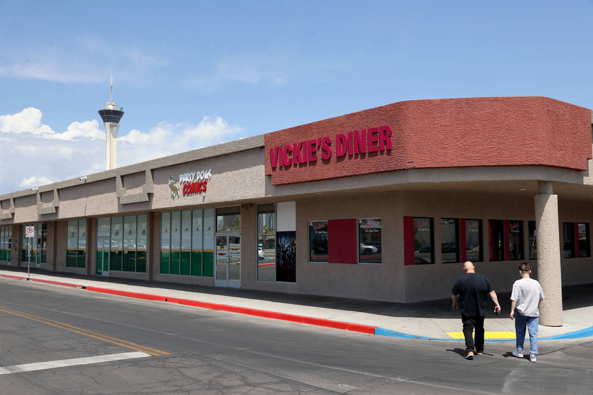 Vickie's Diner, at its new location in the Commercial Center at 953 E. Sahara Ave. in Las Veg ...