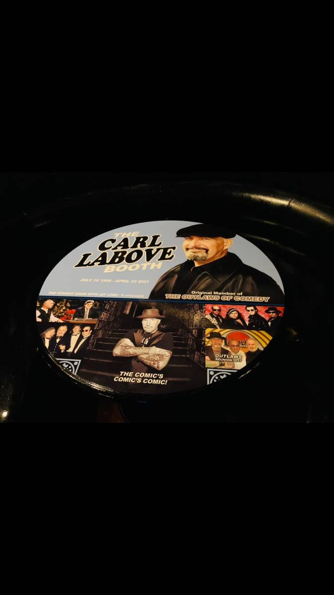 The Carl LaBove Booth at the Laugh Factory at the Tropicana is shown on Friday, July 16, 2021. ...