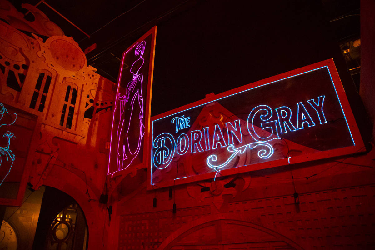 The tucked-away Dorian Gray room is one of many Easter eggs at Lost Spirits. (Chase Stevens/Las ...