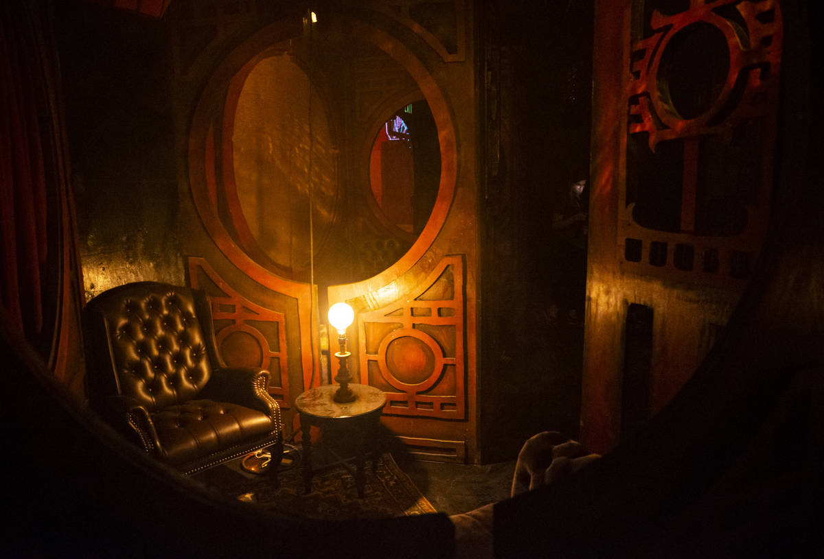 A look inside The Dorian Gray room during a tour of Lost Spirits Distillery, an immersive exper ...