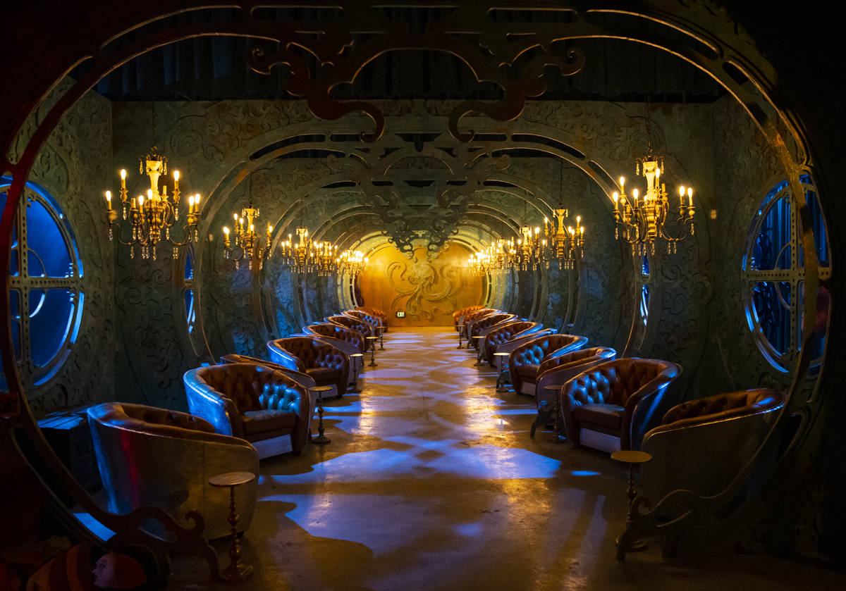 """A tasting room inspired by """"20,000 Leagues Under The Sea"""" is seen during a tour of Lost Spirits ..."""