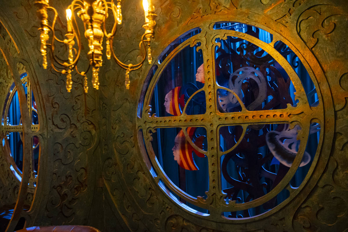 """The """"20,000 Leagues Under the Sea"""" tasting room is designed like the submarine Nautilus from th ..."""