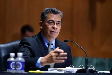 In this June 10, 2021, file photo, Health and Human Services Secretary Xavier Becerra testifies ...