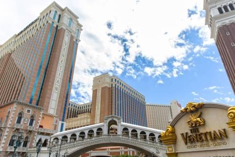 The Venetian on Tuesday, March 17, 2020, in Las Vegas. (Benjamin Hager/Las Vegas Review-Journal ...