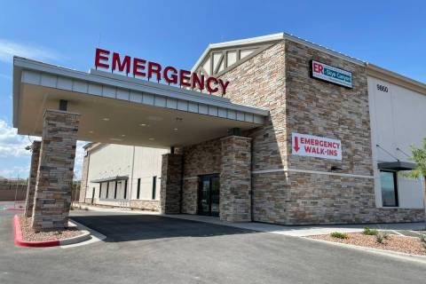 MountainView Hospital's emergency room at Skye Canyon opened on July 20. ER at Skye Canyon is ...
