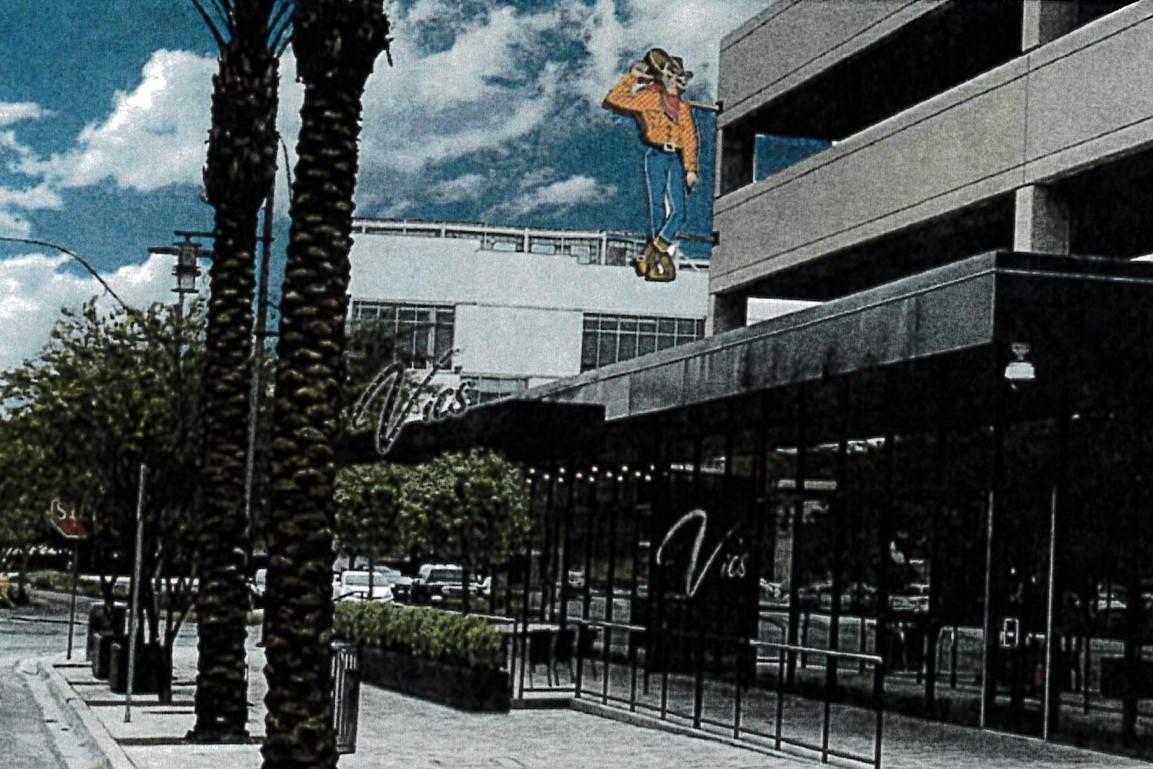 Artist's rendering of proposed Vegas Vic restaurant/tavern. (Jones Greenwold Architecture & Design)