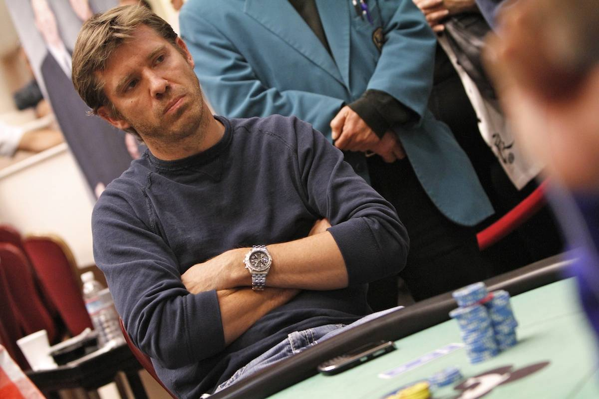 Layne Flack plays in a World Poker Tour event in 2011. (World Poker Tour)