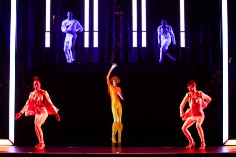 A dress rehearsal for the Whitney Houston hologram tour is shown in this undated photo. (Base H ...
