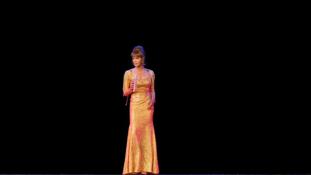 """A scene from """"An Evening With Whitney: The Whitney Houston Hologram Concert"""" is shown in this u ..."""