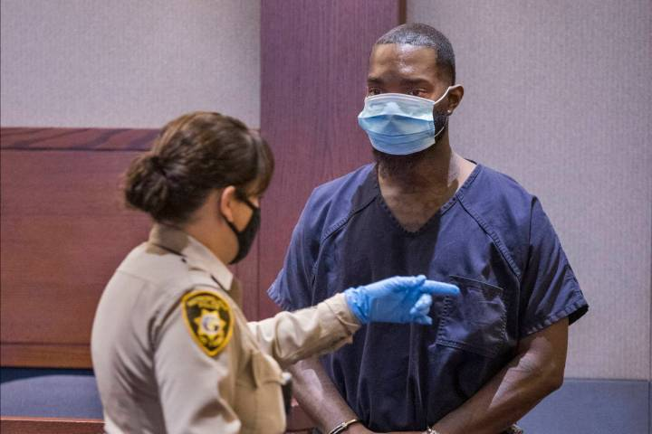 Sidney Deal appears in court on Oct. 8, 2020, at the Regional Justice Center in Las Vegas for a ...