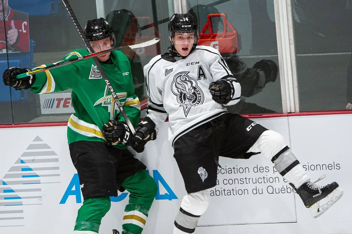 Center Zach Dean skates for the Gatineau Olympiques. Photo courtesy Gatineau Olympiques.