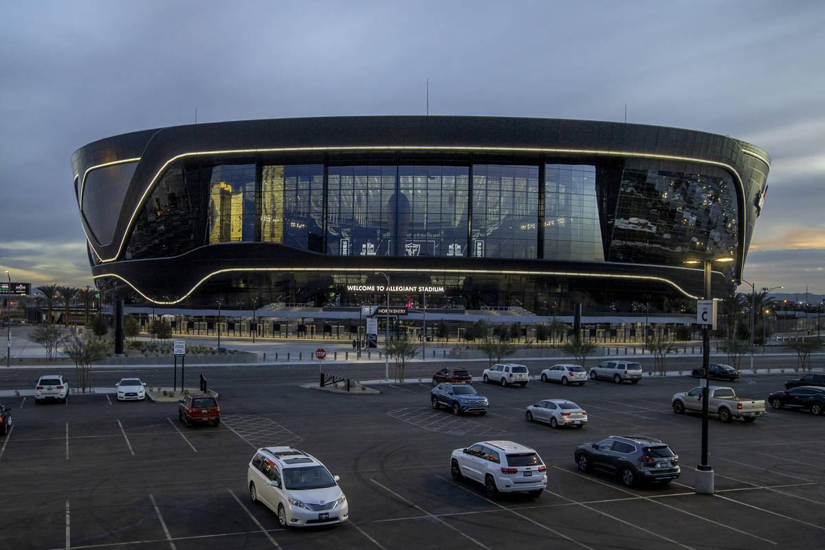A view of Allegiant Stadium on Tuesday, Jan. 12, 2021, in Las Vegas. (L.E. Baskow/Las Vegas Rev ...