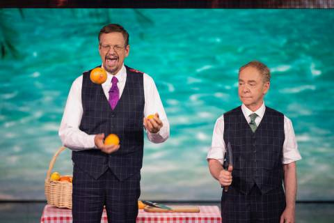 Rio's stars Penn Jillette (left) and Teller are heading up Caesars Entertainment's pop-up vacci ...