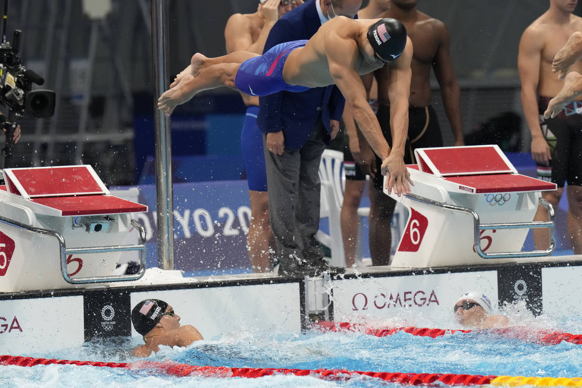 Faith Lutheran grad Bowe Becker helps lead U.S. to relay gold