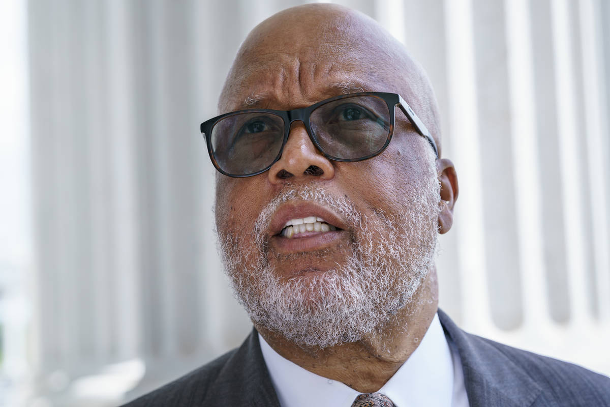 In this July 1, 2021, file photo Rep. Bennie Thompson, chairman of the House Homeland Security ...
