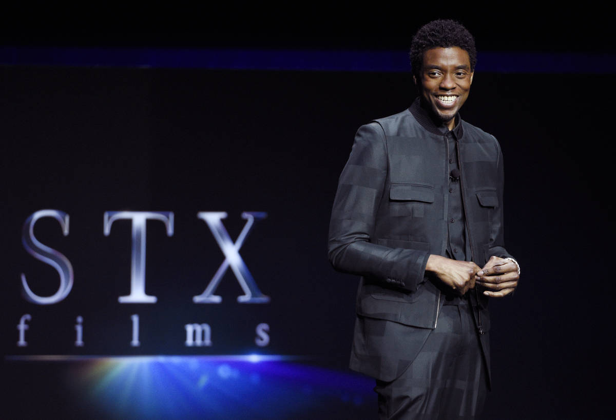 """Chadwick Boseman, a cast member in the upcoming film """"21 Bridges,"""" discusses the film ..."""