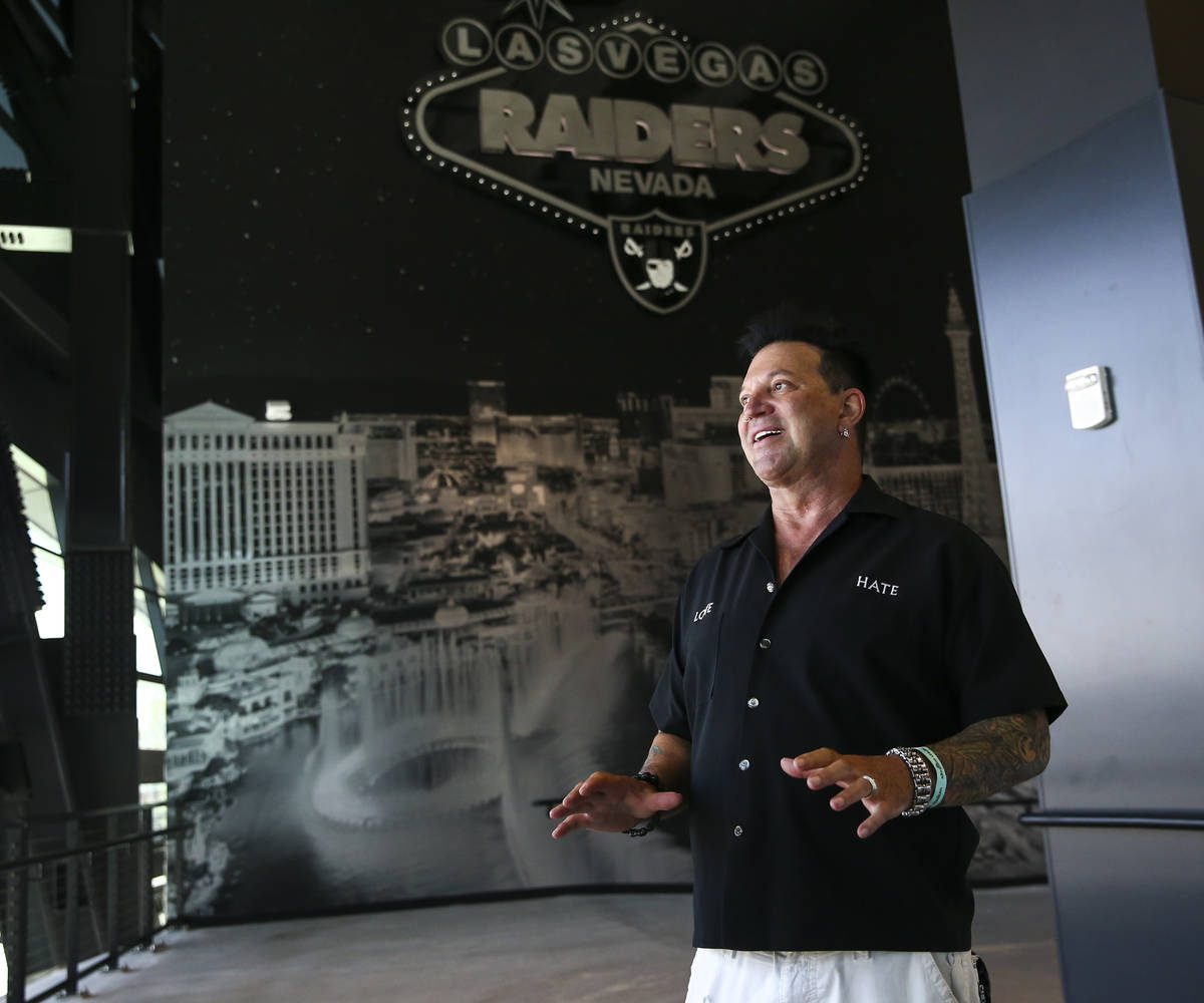 Artist Michael Godard, who curated the Allegiant Stadium art collection, talks about the curati ...
