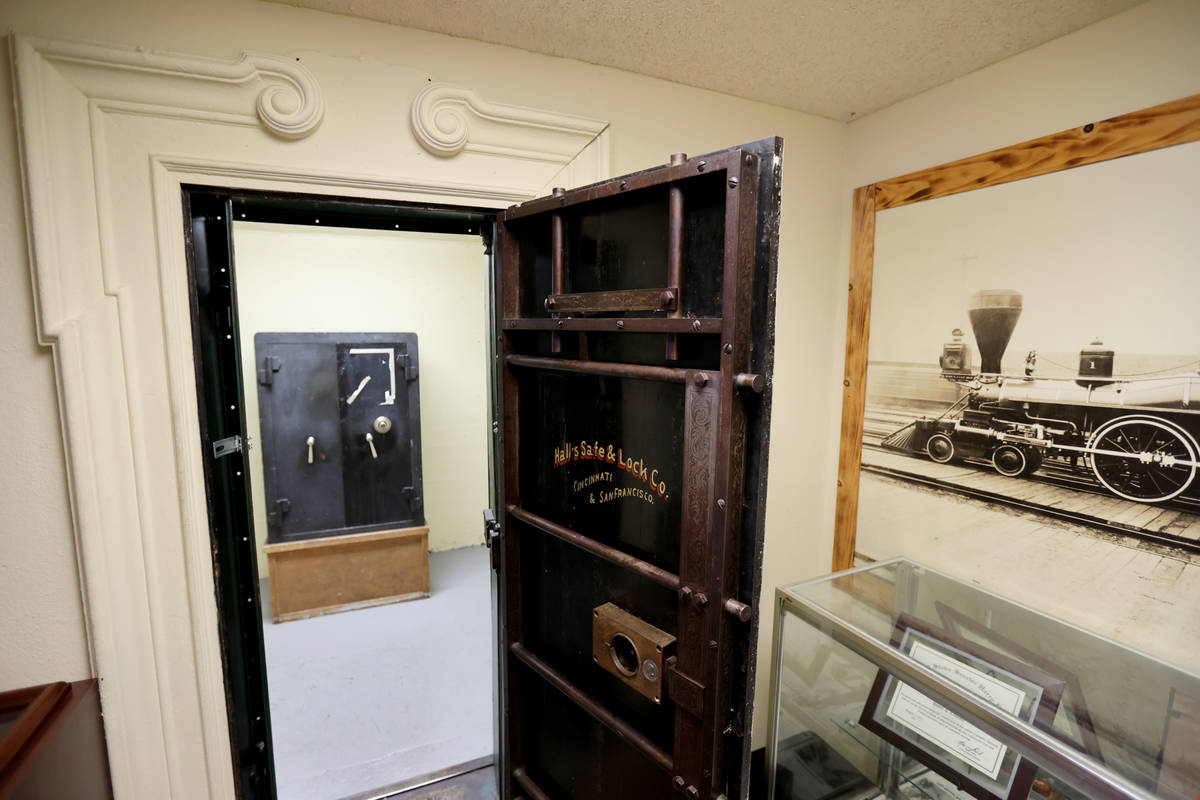A safe at Railroad Pass casino in Henderson Monday, July 26, 2021, ahead of its 90th birthday o ...