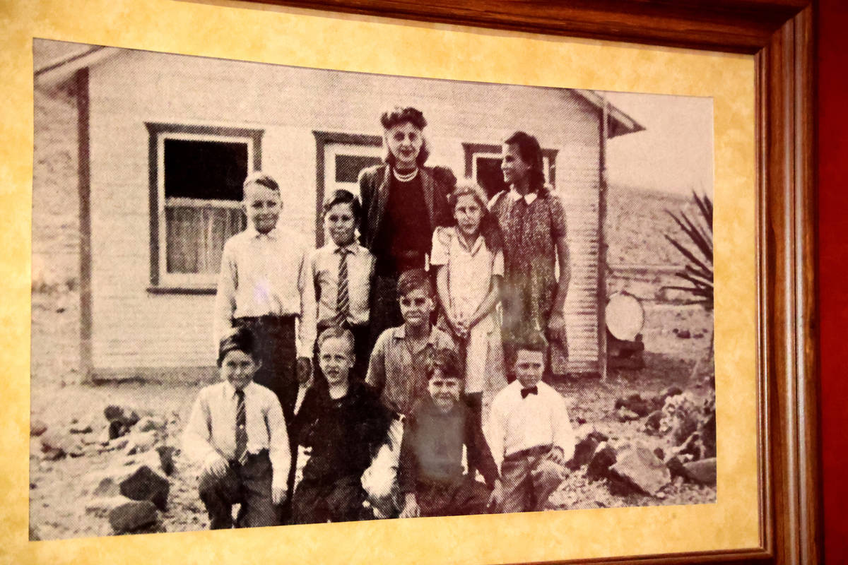 A historical photo on the wall at Railroad Pass casino in Henderson Monday, July 26, 2021, ahea ...