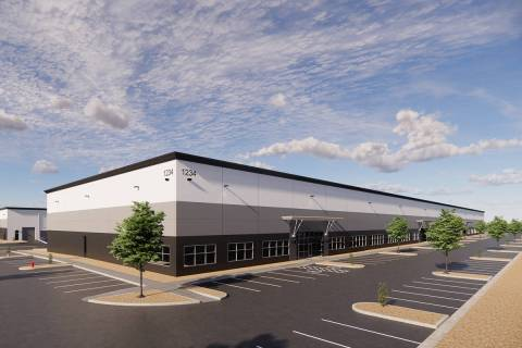 Harsch Investment Properties broke ground on a four-building commercial complex at Sunset and P ...