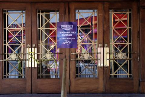 The closed Main Street Station in downtown Las Vegas Wednesday, March 10, 2021. (K.M. Cannon/La ...