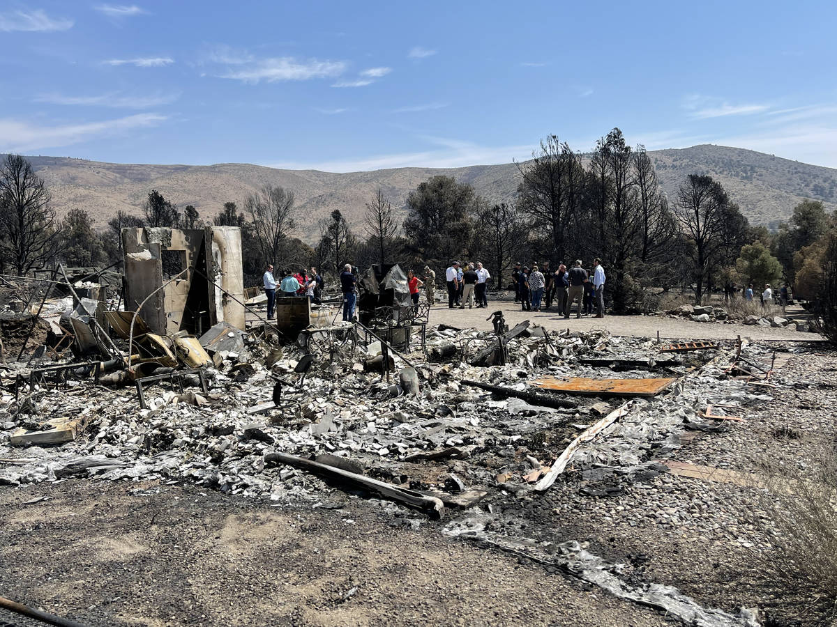 Remains of a home burnt to the ground in the Tamarack Fire Gardnerville, NV. July 28, 2021. (Bi ...