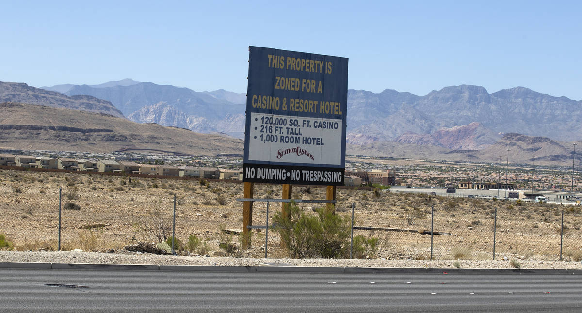 Station Casinos-owned land on the west side of South Durango Drive just south of the 215 Beltwa ...