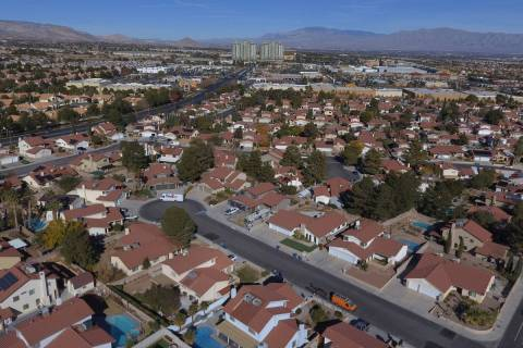 An aerial view of housing development along South Odette Land and West Condotti Court in Summer ...