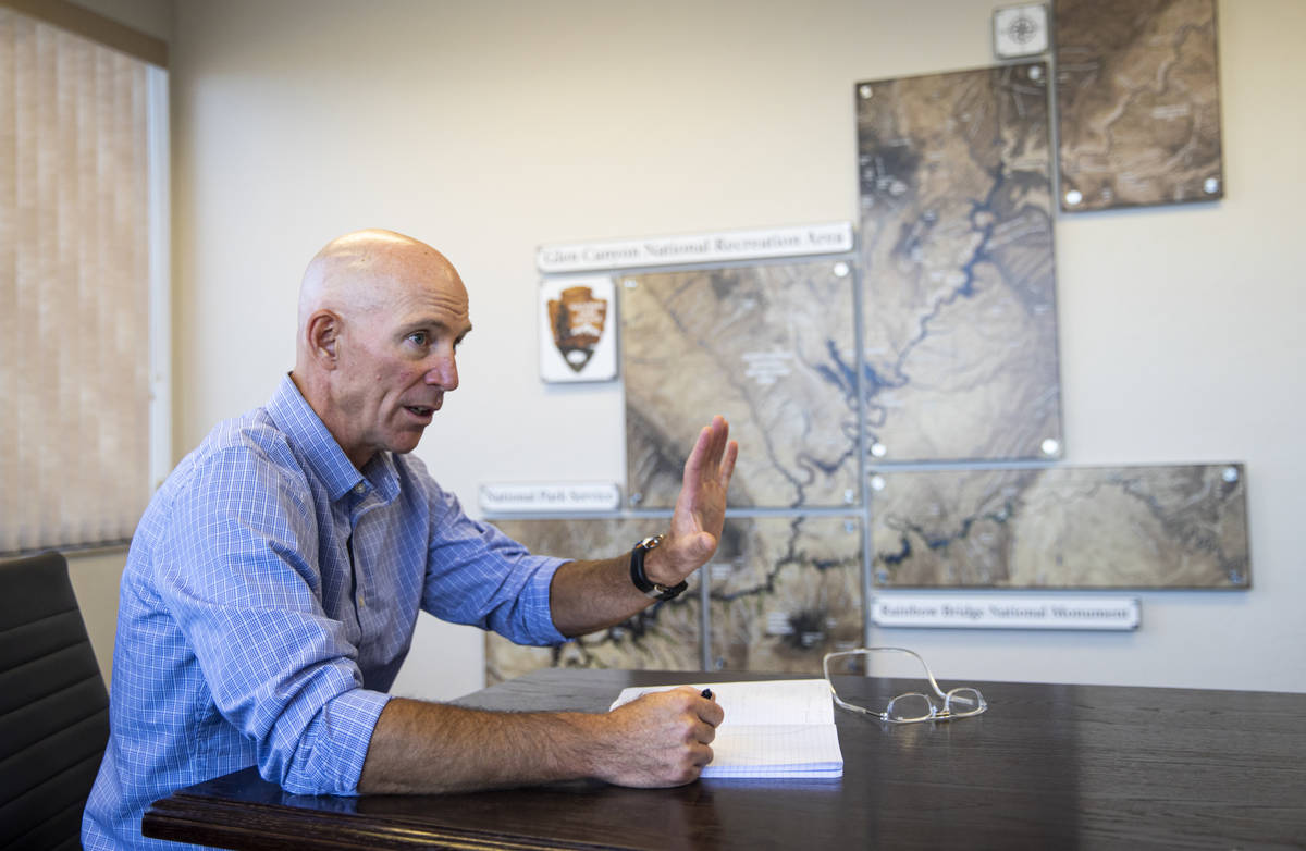 William Shott, superintendent of Glen Canyon National Recreation Area, talks about the effects ...