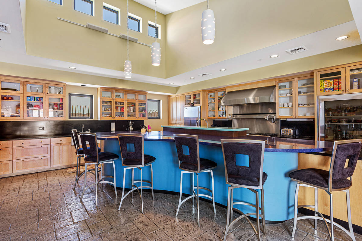 Tom Love Group The main level of former Lance Burton's home has a kitchen, pantry, breakfast no ...