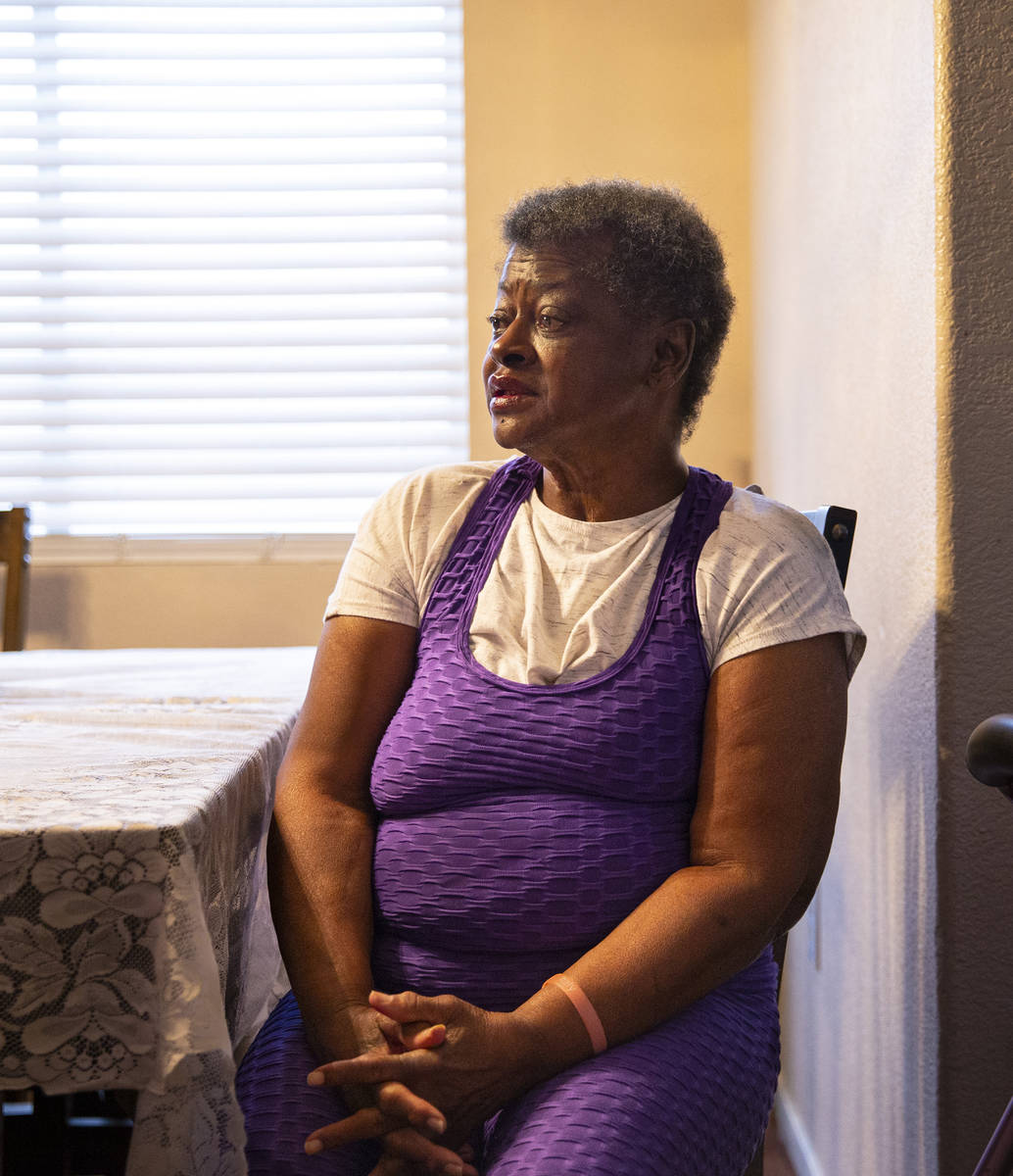 Rose Parker, whose house is being threatened with a foreclosure lawsuit over missed payment of ...