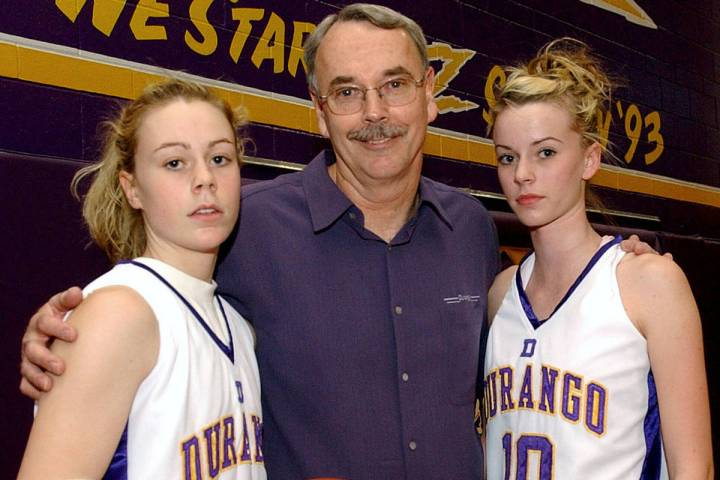 ALL/SW/VIEW--Durango High School girl's basketball family from l-r Lindy La Rocque, assistant c ...
