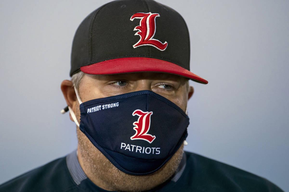 Liberty High School football coach Rich Muraco on the empty football field on Thursday, July 23 ...