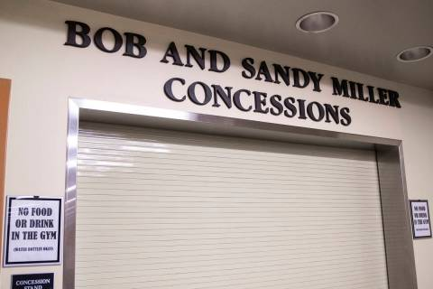 The Governor Bob and Sandy Miller concession stand at Bishop Gorman High School on Monday, Aug. ...