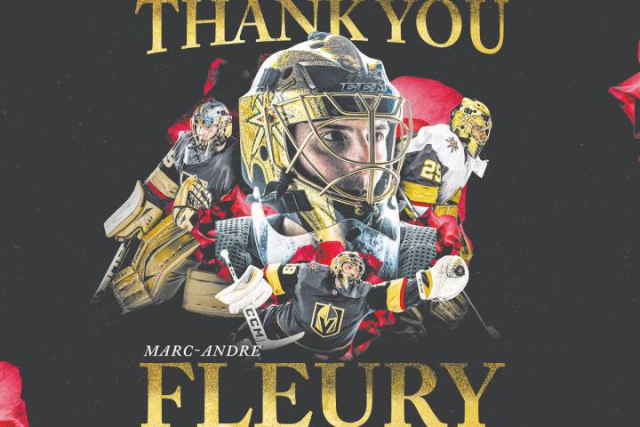 After trading Marc-Andre Fleury to the Chicago Blackhawks on Tuesday, the Golden Knights thanke ...