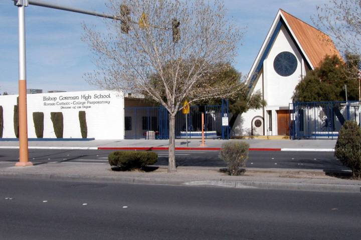 Bishop Gorman High School is seen at its former location at 1801 S. Maryland Parkway where it s ...