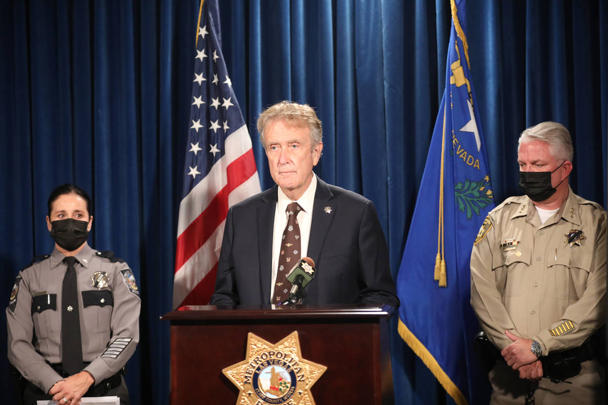 George Togliatti, director for the Department of Public Safety, addresses the media at a press ...