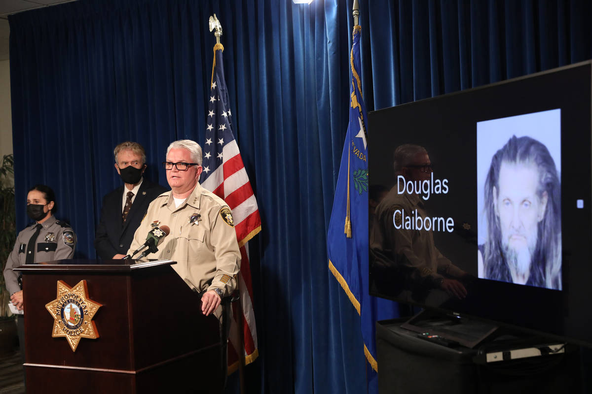 Metropolitan Police Department Undersheriff Christopher Darcy addresses the media at a press co ...