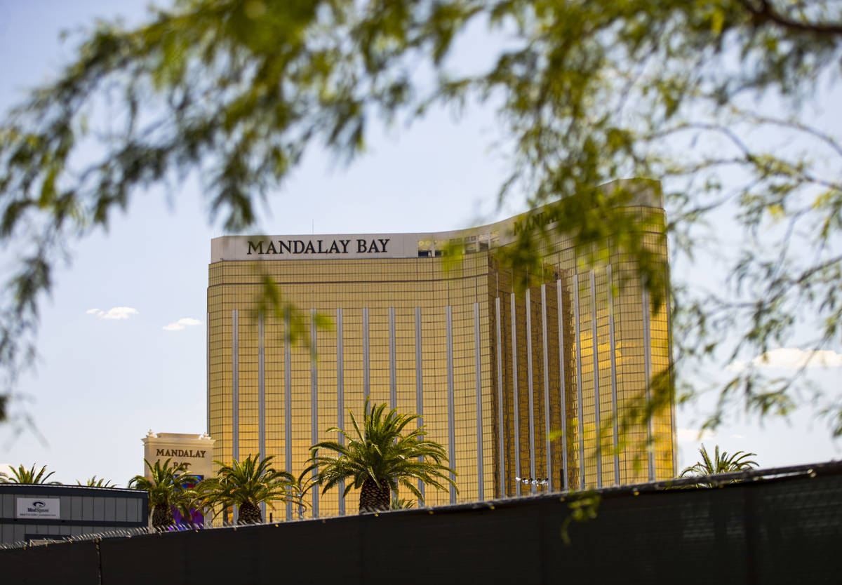 A view of Mandalay Bay as seen from some of the two acres of land, near Reno Avenue and Giles S ...