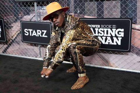 """DaBaby attends the world premiere of """"Power Book III: Raising Kanan"""" at the Hammerstein Ballroo ..."""