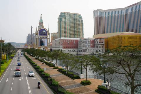 A view of the Cotai Strip on April 10, 2020. (Inside Asian Gaming)