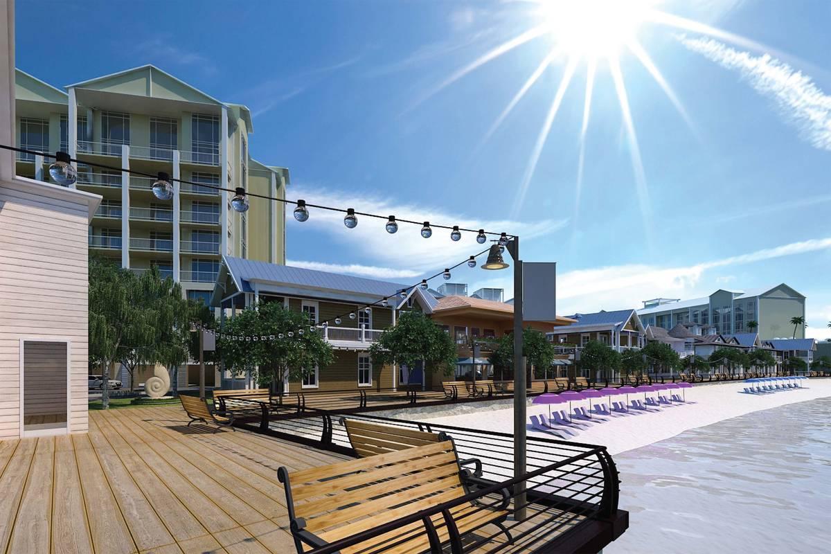 Allegiant Airlines announced plans to build a beachfront resort with a hotel, nine condominium ...