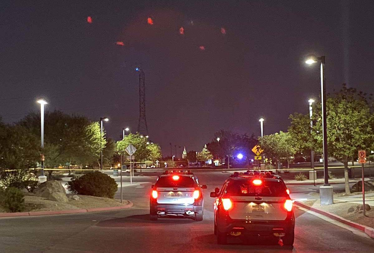 Las Vegas police are investigating the shooting death of a man at Charlie Frias Park on West Tr ...