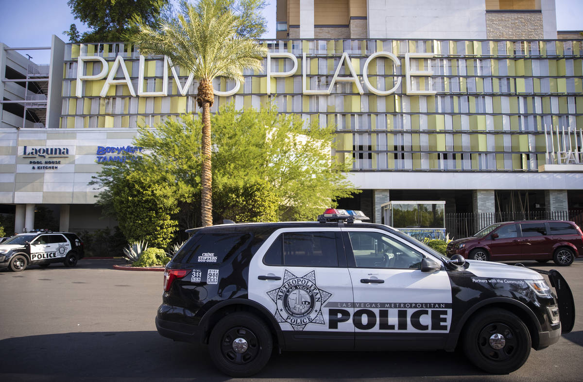 Las Vegas Police investigate after two women were found dead after an apparent murder-suicide i ...