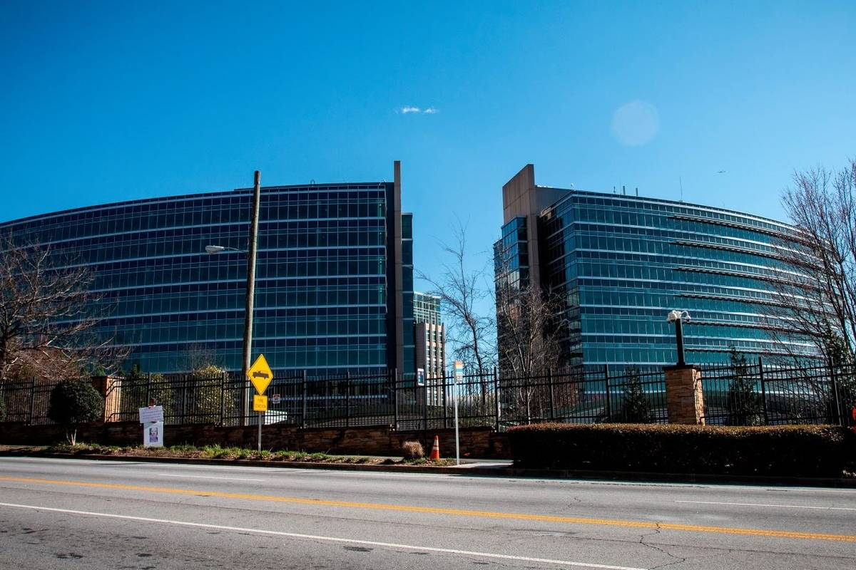 The headquarters for Centers for Disease Control and Prevention, seen in March 2020. (AP Photo/ ...